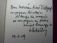 ENVOI AUTOGRAPHE / LES OUVRAGES DU TEMPS ( Poésie) Robert Bréchon EO