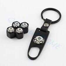 Car Accessories Key Ring Wheel Tire Tyre Valve Dust Cap Style Pirate Skulls Head