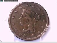 1840 Large Cent PCGS Genuine Damage - F Details Large Date 26319015 Video