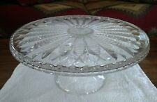 "Rare Mikasa Crystal ENGLISH FERN 11.75"" D Pedestal Cake Stand Plate CHL30/317"