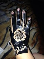 1pcs Henna Hand Tattoo Stencil,Flower Glitter Airbrush Mehndi Henna Tattoo Large