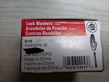 """50 Split Lock Washers 9/16"""" Zinc Steel"""