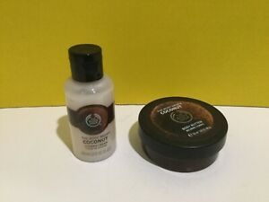 The Body Shop Coconut Body Butter 1.59.fl And Shower Cream 2.0.oz As Pics