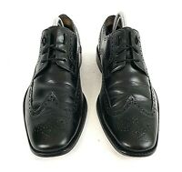 Cole Haan Mens Wingtip Oxford Shoes Sz US 10.5M Leather Dress NikeAir Blk C07680