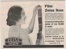 Pubblicità epoca ZEISS IKON FOTO FILM PHOTO 1930 TORINO advert werbung publicitè