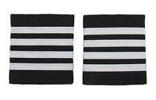 Pilot Captain, Silver Strips Epaulettes, Airline, Cabin Crew 4 Bars R1738-04