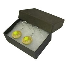 Handmade Unusual Novelty Fun Breakfast High Tea Buttered Crumpet - Earrings