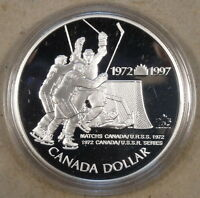 Canada 1997 Silver Dollar Proof 25th Anniversary of Hockey Victory