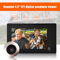 """4.3"""" HD TFT LCD 145° Mirilla Visor Timbre De Puerta Digital + Camera Seguridad"""