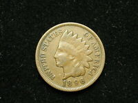 ESTATE SALE COIN VF 1896 INDIAN HEAD CENT PENNY w/ FULL LIBERTY 267v