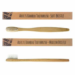 Bamboo Toothbrush Eco Friendly Biodegradable Adult Kids Vegan Soft Medium Wooden