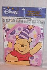 NEW  IN PACKAGE WINNIE THE POOH DISNEY  PINK BIRTHDAY BANNER   8.5 FEET