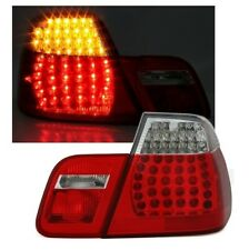 BMW E46 4dr saloon 1998 - 2001 L.E.D. LED red clear tail rear lamps lights