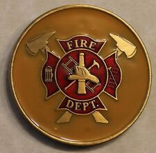 Firefighter Fire Department When I am Called to Duty Challenge Coin