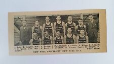 New York University NYu Brooklyn College of Pharmacy 1927-28 Basketball Team Pic