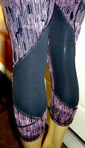 LULULEMON RUN: PACE RIVAL CROP leggings pants Down Pour Coral Black-10-Sz Large