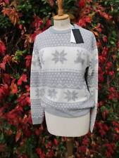Fashion Union winter JUMPER snowflakes reindeer uk10 bnwt Christmas apres ski