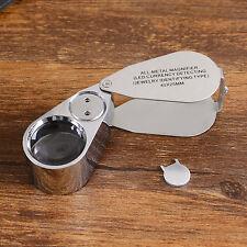 Lupe Vergrößerungslupe Präzisionslupe Uhrmacher Lupe 40 x vergr. Ø25mm
