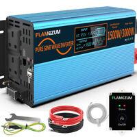 Pure Sine Wave Power Inverter 3000W 1500W 12V To 240V Car Converter Caravan Trip