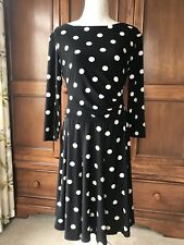 4350db7847a LADIES RALPH LAUREN BLACK AND WHITE PRINT DRESS ~ SIZE 14