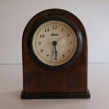 Pendulette réveil BINO quartz électrique art déco 1950 Italie design N4384