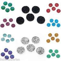L/P 20 Harz Cabochons Perlen zum Kleben Klebstein Deko Rund Farbwahl M15442