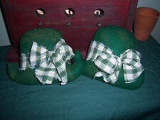 Pattern~Primitive St.Patrick'S Day Derby Hats Bowl Filler Ornie Tucks
