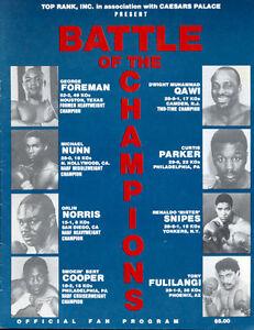 Original Vintage 1988 George Foreman vs. Dwight Qawi Fight Boxing Program