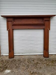 LARGE  QUALITY SOLID WOOD PERIOD FIRE SURROUND MANTLE PIECE