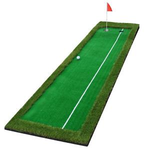 Hilllman PGM Golf Artificial Turf Two Hole Putting Green