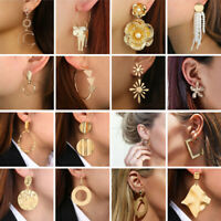 2019 Fashion Round Circle Geometry Metal Earring Ear Stud Earrings Women Jewelry