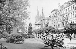 Fk Brieg  i.O.S. - Jahr 1920 - Piastenstrasse mit Bismarck Denkmal !!!