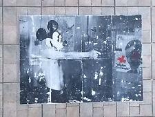 """Nigel Borowskj  """" Taxi Driver """"  Technique Mixte sur Panneau , Street Art"""