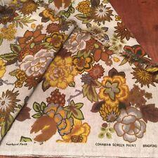 "COHAMA Screen Print BRADFORD Floral Scotchgard finish Upholstery Fabric 65""x55"""