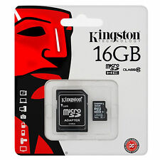 NUOVO KINGSTON MICRO SD SCHEDA DI MEMORIA 16gb SDHC MicroSD TF MOBILE CAMERA CLASSE 4
