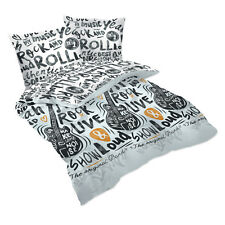 Rock and Roll - SoulBedroom 100% Cotton Bedding Set (Duvet Cover, Pillow Cases)