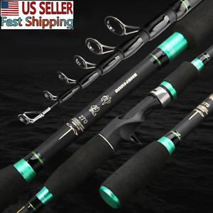 Hard Fishing Rod Travel Telescopic Pole Casting Rod Casting Pole Sea Tackle US
