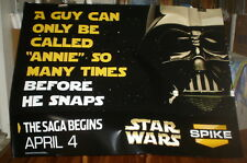 STAR WARS SPIKE TV 5FT subway POSTER Darth Vader XXL RARE