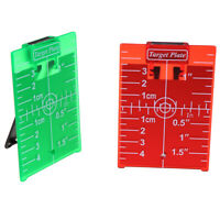 1PCS inch/cm Magnetic Laser Target Card Plate For Green/Red Laser DR