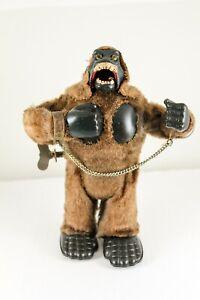 "Marx King Kong Type Mechanical Roaring Gorilla Mid 1960's 7 1/2"" Tall Brown VG"