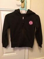 Childrens Black Converse Jacket Zip Up Hooded Casual Age 5-6 Years B14