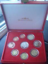 Monaco 2004 proof  coin set  1 cents 2 euro plus 5 euro silver coin  5,88 euro