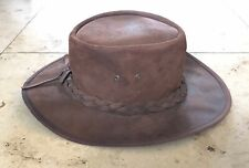 Spanish Suede Leather Bush Style Hat Size L