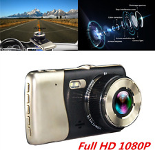 4.0'' Full HD 1080P Dual Lens Car Dash Cam Recorder Rearview Camera Night V