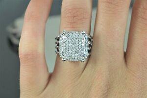 $2,850 David Yurman Sterling Silver Pave Round Diamond Wheaton Ring Band Sz 6.5