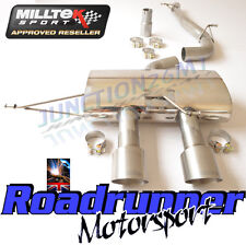"Milltek Golf SSXVW219 R MK6 3"" Race exhaust CAT BACK non res sans soupape Titane"