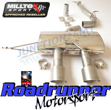 "Milltek SSXVW219 Golf R MK6 3"" Race Exhaust Cat Back Non Res No Valve Titanium"