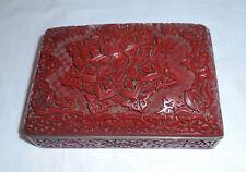 Ancienne boite en laque rouge pékin Chine