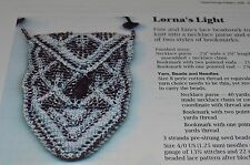 Heartstrings Knitting Pattern Lorna's Light Necklace Purse Bookmark