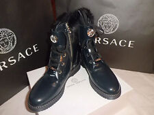 Versace Young Shoes Scarponcini Pelle N. 38